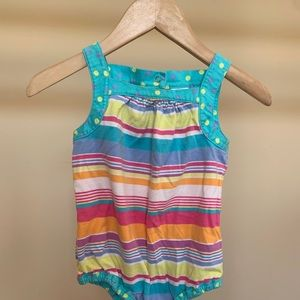 Hanna Andersson one piece infant girl bubble.